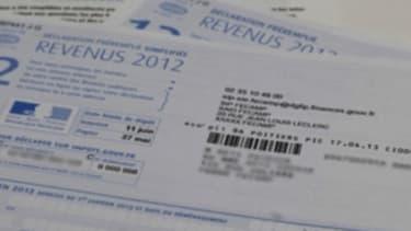 Une feuille de déclaration d'impôts préremplie.