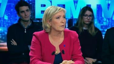 Marine Le Pen sur BFMTV, dimanche 5 mars