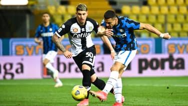 Alexis Sanchez lors du match Parma-Inter, à Parme le 4 mars 2021