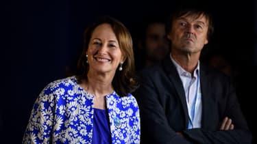 Ségolène Royal et Nicolas Hulot le 1er décembre 2015 lors de la COP21.