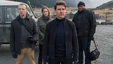 Simon Pegg, Rebecca Ferguson, Tom Cruise et Viing Rhames dans Mission Impossible: Fallout
