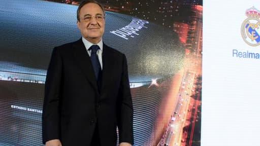 Florentino Pérez, le président du Real Madrid, lors de la présentation du projet, ce vendredi 31 janvier.