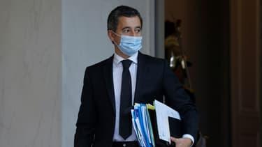 Le ministre de l'Intérieur Gérald Darmanin, le 10 novembre 2020 à l'Elysée, à Paris