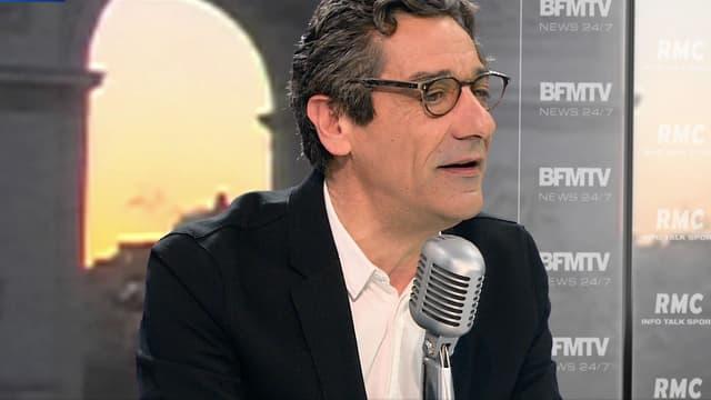 Serge Papin, le PDG de Système U, mardi 9 décembre sur BFMTV et sur RMC.