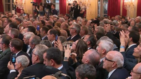 Les maires de France ce mercredi soir à l'Elysée.
