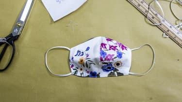 Un masque en tissu (illustration).