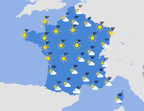 La météo du jeudi 22 avril 2021