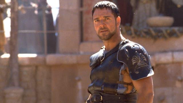 Russel Crowe dans Gladiator de Ridley Scott.