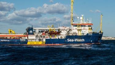 Le Sea Watch en Méditerranée le 4 janvier 2019