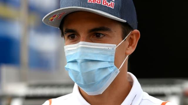 Le pilote de moto espagnol Marc Marquez, le 24 septembre 2020 à Montmelo, près de Barcelone