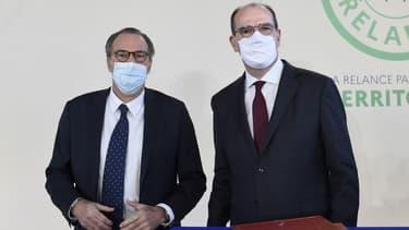 Le président sortant LR de la région PACA, Renaud Muselier, et le Premier ministre Jean Castex, le 5 janvier 2021