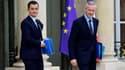 Le ministre des Comptes publics, Gérald Darmanin et le ministre des l'Économie Burno Le Maire.