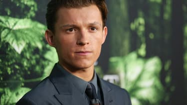 L'acteur Tom Holland, nouveau visage de Spider-Man, en avril 2017.