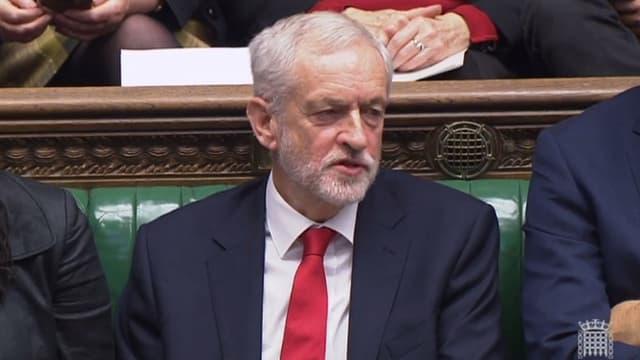 Jeremy Corbyn, à la chambre des Communes, le 19 décembre.