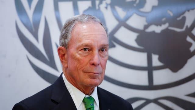 Michael Bloomberg à l'ONU, en tant qu'envoyé spécial pour l'action climatique, le 5 mars 2018