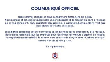 Le slip français condamne la vidéo tournée par des salariés lors d'une soirée déguisée.