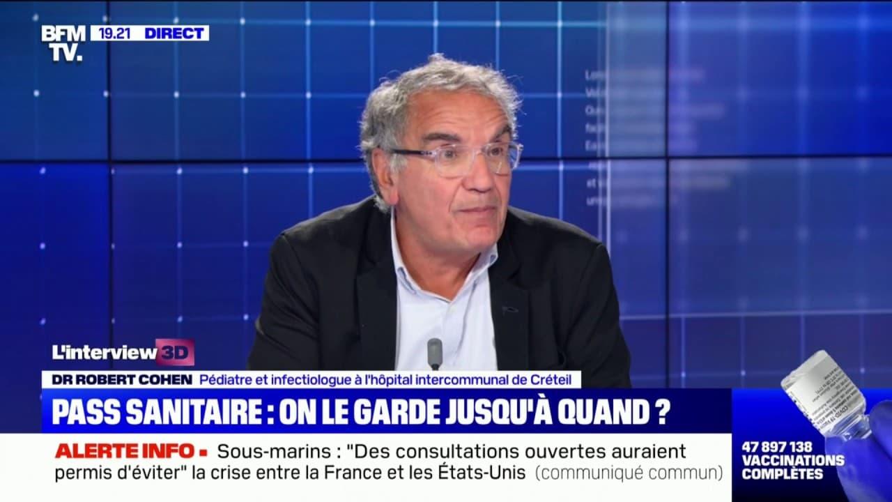 """Dr Robert Cohen, pédiatre: """"Il n'y a aucun doute"""", que la vaccination est au cœur des bons chiffres de l'épidémie en France"""