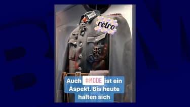 Le cliché de l'uniforme nazi publié sur Instagram