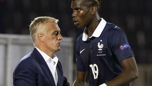 Didier Deschamps et Paul Pogba