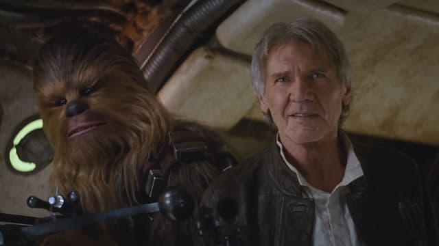 Harrison Ford dans la bande annonce de Star Wars: l'éveil de la Force, dévoilée jeudi 16 avril.