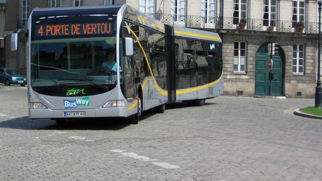 Ce lundi matin, peu de bus circulent dans l'agglomération nantaise, à la suite de l'agression d'un conducteur de tram durant le week-end. (Photo d'illustration)