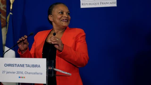 Christiane Taubira, le 27 janvier 2016.