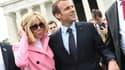 Brigitte et Emmanuel Macron ont visité le Lincoln Memorial.