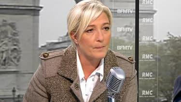 Marine Le Pen, ce mercredi sur RMC/BFMTV