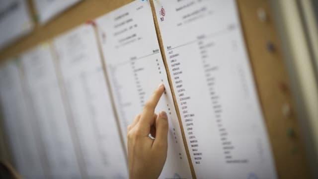 Un étudiant regarde les résultats du baccalauréat (image d'illustration)
