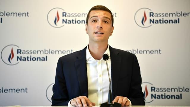 Le vice-président du Rassemblement national Jordan Bardella à Nanterre, le 28 juillet 2020