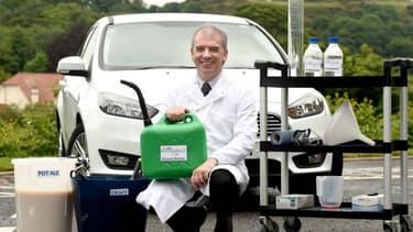 Martin Tangney, chimiste et fondateur de Celtic Renewables, a créé un biocarburant à partir des résidus de la production du whisky.