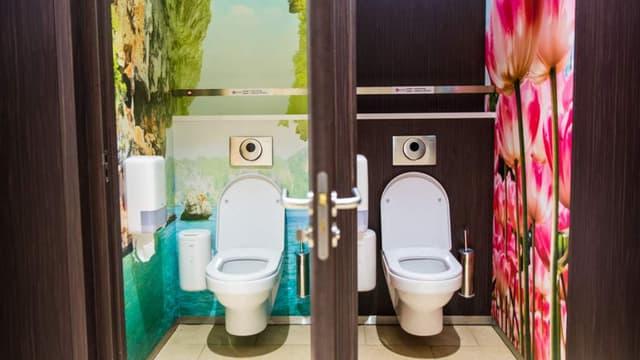 Un exemple du design des toilettes 2theloo, la société néerlandaise qui a remporté l'appel d'offres de la SNCF.