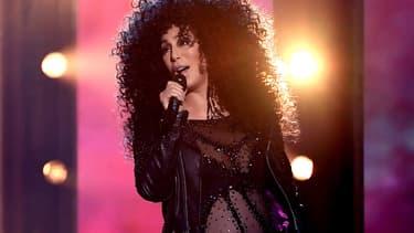 Cher le 21 mai 2017 sur la scène des Billboard Awards.
