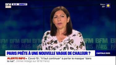 """Anne Hidalgo (PS) sur l'arrivée de fortes températures à Paris: """"C'est un travail au long cours. Il ne faut pas juste réagir quand les températures augmentent"""""""