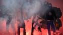 Fumigènes et tifo au Vélodrome