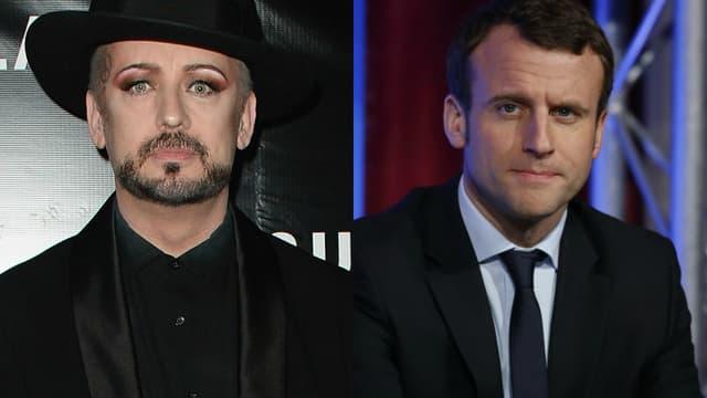 Le chanteur britannique Boy George a affiché son soutien à Emmanuel Macron