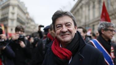 Jean-Luc Mélenchon, co-président du Parti de gauche, le 5 mars à Paris.