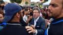 Jean-Luc Mélenchon en campagne, ce samedi 3 juin à Marseille.