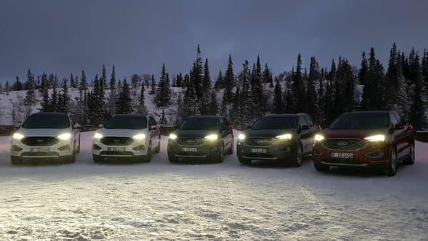 Les nouveaux phares full-led du Edge renforcent le confort de conduite de nuit