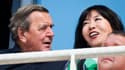 Gehrard Schröder et sa future épouse, Kim So-yeon