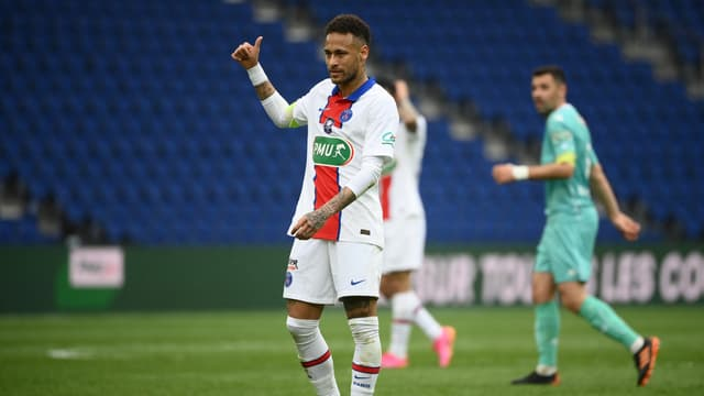 Neymar lors de PSG-Angers
