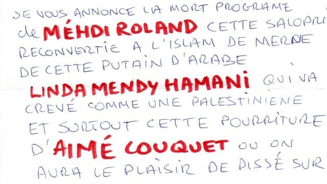 Une lettre anonyme a été adressée à trois opposants communistes au maire de Béziers.
