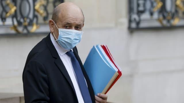 Jean-Yves Le Drian en janvier 2021 à l'Elysée.