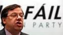 Le premier ministre irlandais Brian Cowen démissionne de la tête du Fianna Fail. Il entend néanmois rester aux commandes du gouvernement jusqu'aux élections législatives du 11 mars prochain. /Photo prise le 16 janvier 2011/REUTERS/Cathal McNaughton