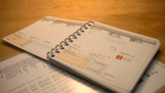 Un agenda ouvert à la page du 29 février