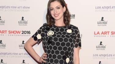 Anne Hathaway en janvier 2016