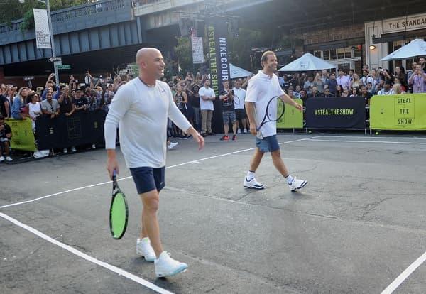 Andre Agassi et Pete Sampras dans les rues de New York