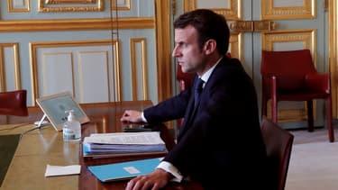 """""""Nous ne surmonterons pas cette crise sans une solidarité européenne forte"""" assure le chef de l'Etat."""