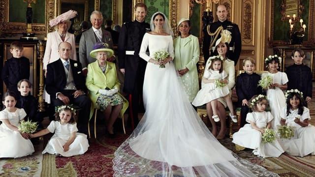 L'une des trois photos officielles du mariage de Meghan et Harry