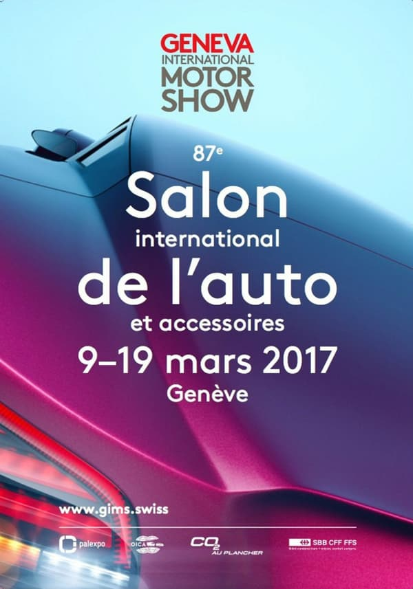 L'affiche officielle du salon de Genève, où sera dévoilée la nouvelle Alpine.